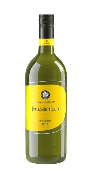 Yellow label 1 Liter Jeruzalemcan 2016